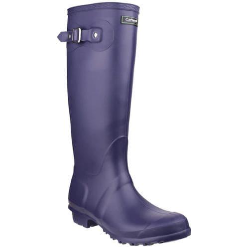 Cotswold Sandringham Plain PVC Wellingtons Purple